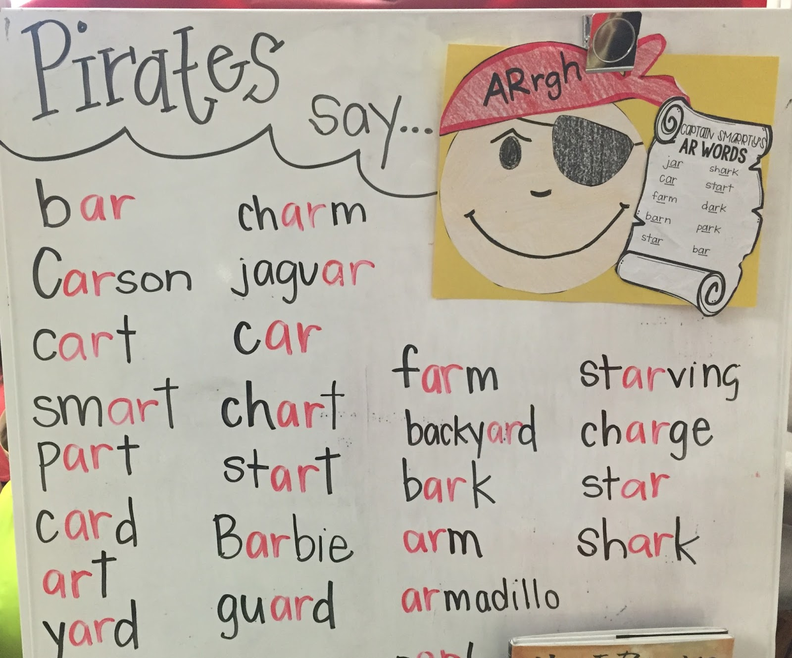 Worksheet Ar Words Phonics for the love of first grade fun with phonics ar or we made pirate hats all our words