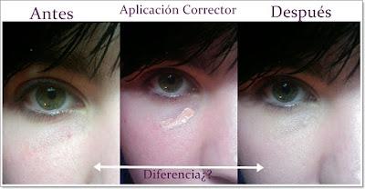 antes y después corrector