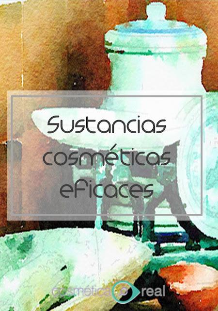 La sustancias cosmeticas que son eficaces y con pruebas