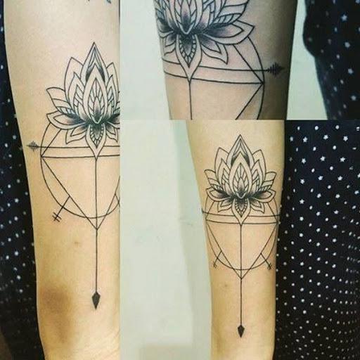 Geométricas Lotus Tatuagem