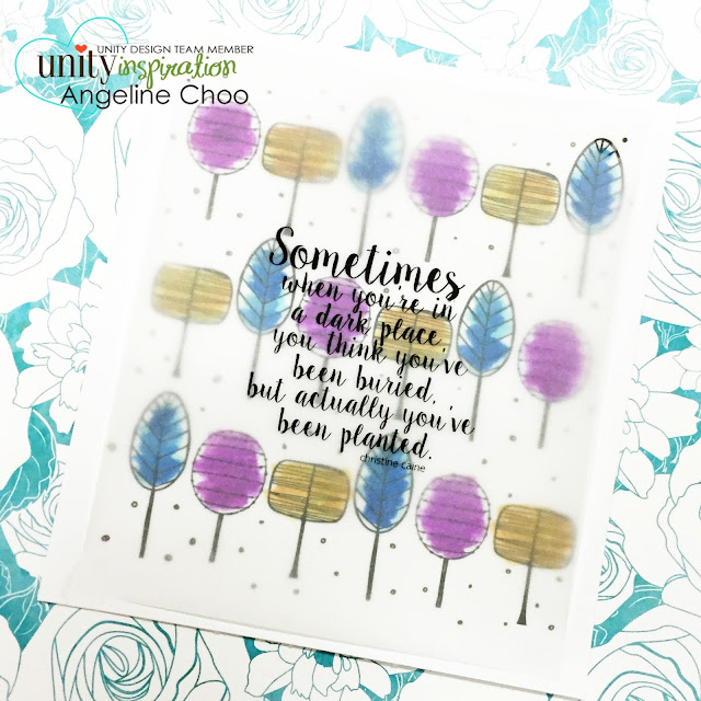 ScrappyScrappy: BIG Blog Hop + [NEW VIDEOS] with Unity Stamp - Planted #scrappyscrappy #unitystampco #card #cardmaking #stamp #stamping #papercraft #watercolor #vellum