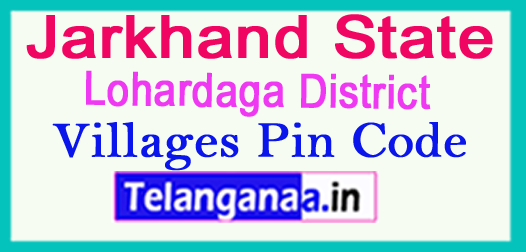Lohardaga District Pin Codes in Jharkhand State