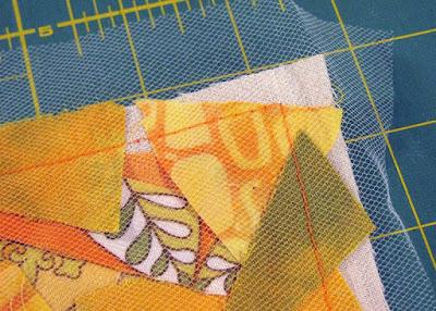 mixed media fabric art sewing detail