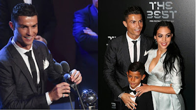 Photo of Cristiano Rinaldo's, his girlfriend and son