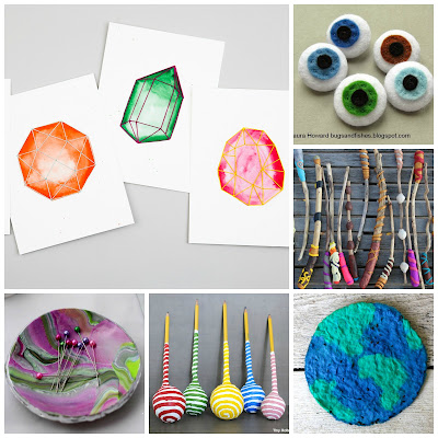 image school holidays diy tutorial ideas papier mache sewing geometric gemstone eyeball felt polymer clay bowl plant it seed paper