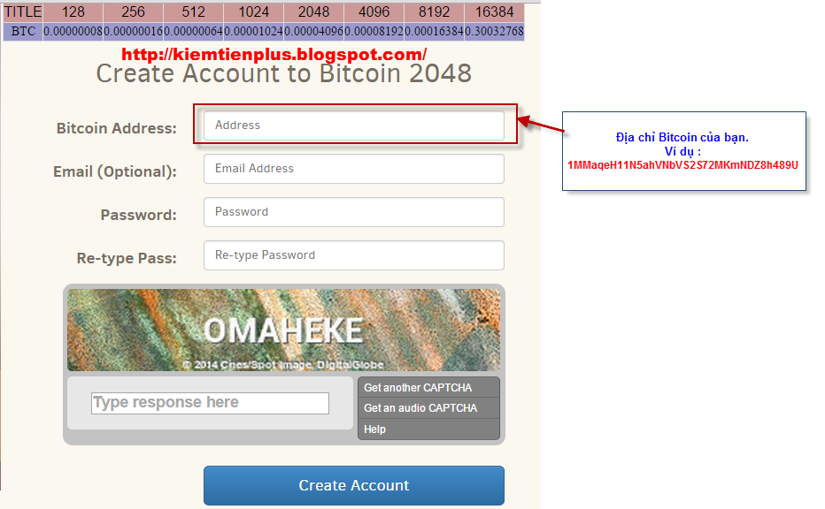 Create account bitcoin 2048 - FOREX Trading