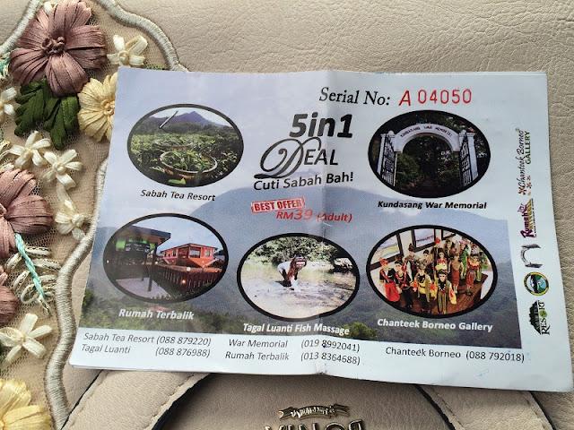 Tiket 5 in 1 Deal - Cuti Sabah Bah!
