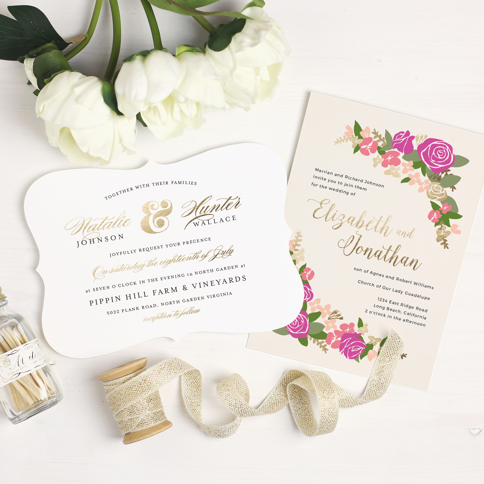 Not-So-Basic Wedding Invitations with Basic Invite - Holly Muffin