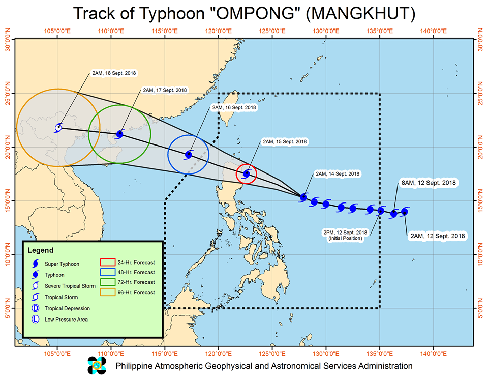 'Bagyong Ompong' PAGASA weather update September 14, 2018