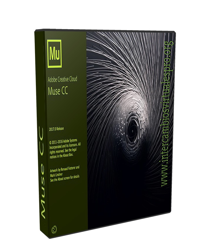 Adobe Muse CC 2017.1.0.821 poster box cover