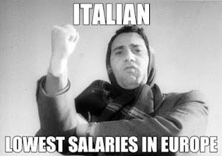 italian lowest salaries europe