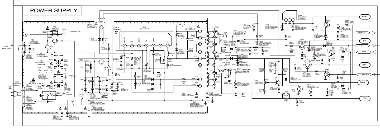 small resolution of sanyo c29lf41 crt tv circuit diagram