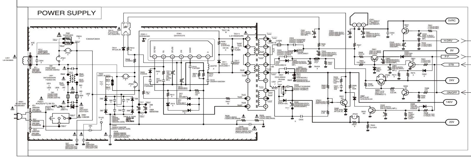 sanyo c29lf41 crt tv circuit diagram [ 1600 x 544 Pixel ]
