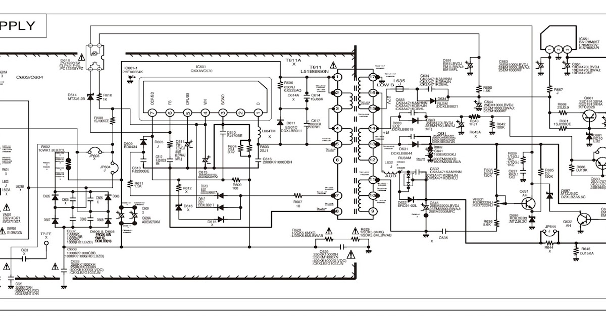 Sanyo C29LF41 CRT TV circuit diagram