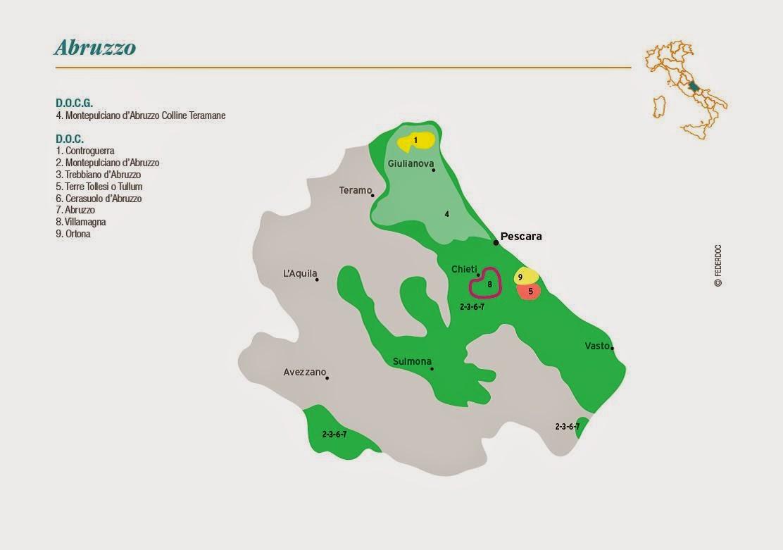 Map Of Italy Abruzzo Region.Vino Travels An Italian Wine Blog Wines Of Abruzzo Montepulciano