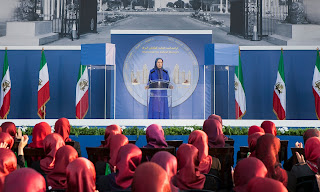 Maryam Rajavi in Tirana, Albania in September 2017. Photograph: NurPhoto via Getty