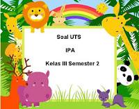 Soal UTS IPA Kelas 3 Semester 2 untuk Tahun Ajaran 2017/2018