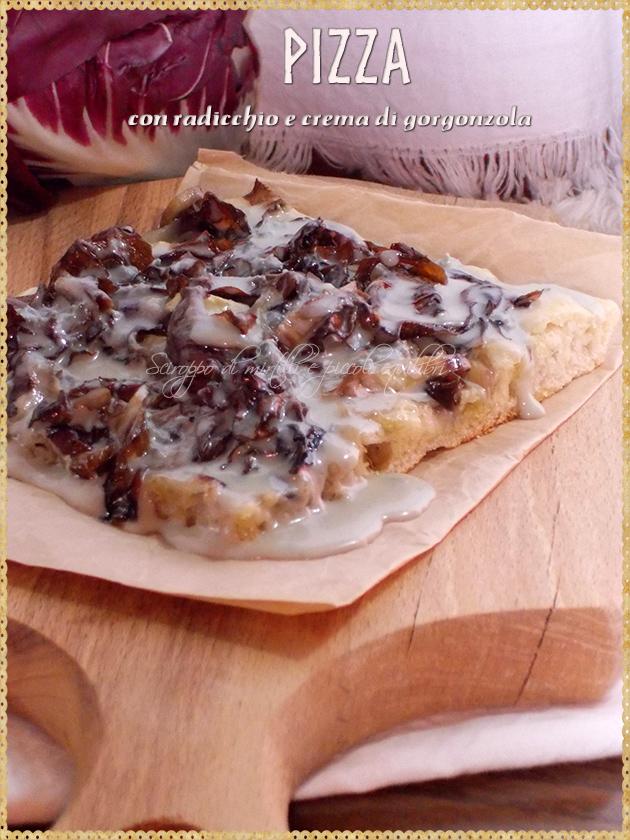 Pizza con radicchio e crema di gorgonzola