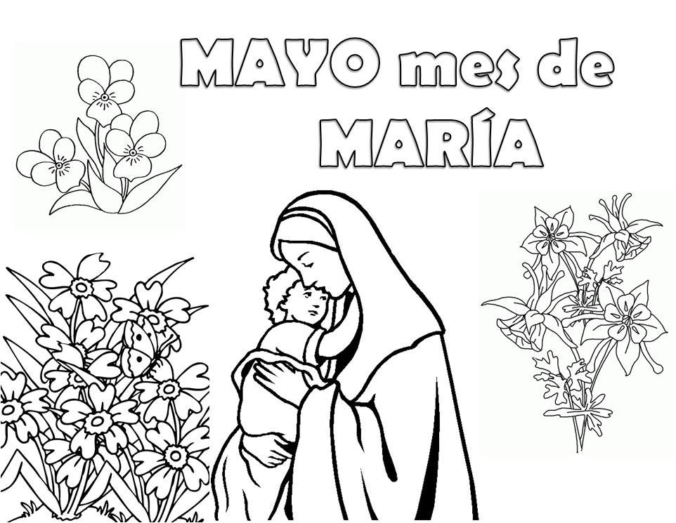 Blog del Profesorado de Religión Católica: Dibujos de la Virgen ...