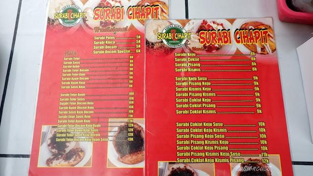 Kuliner Legendaris Bandung: Surabi Cihapit Sejak Tahun 1982, sejarah surabi cihapit, harga dan menu surabi cihapit