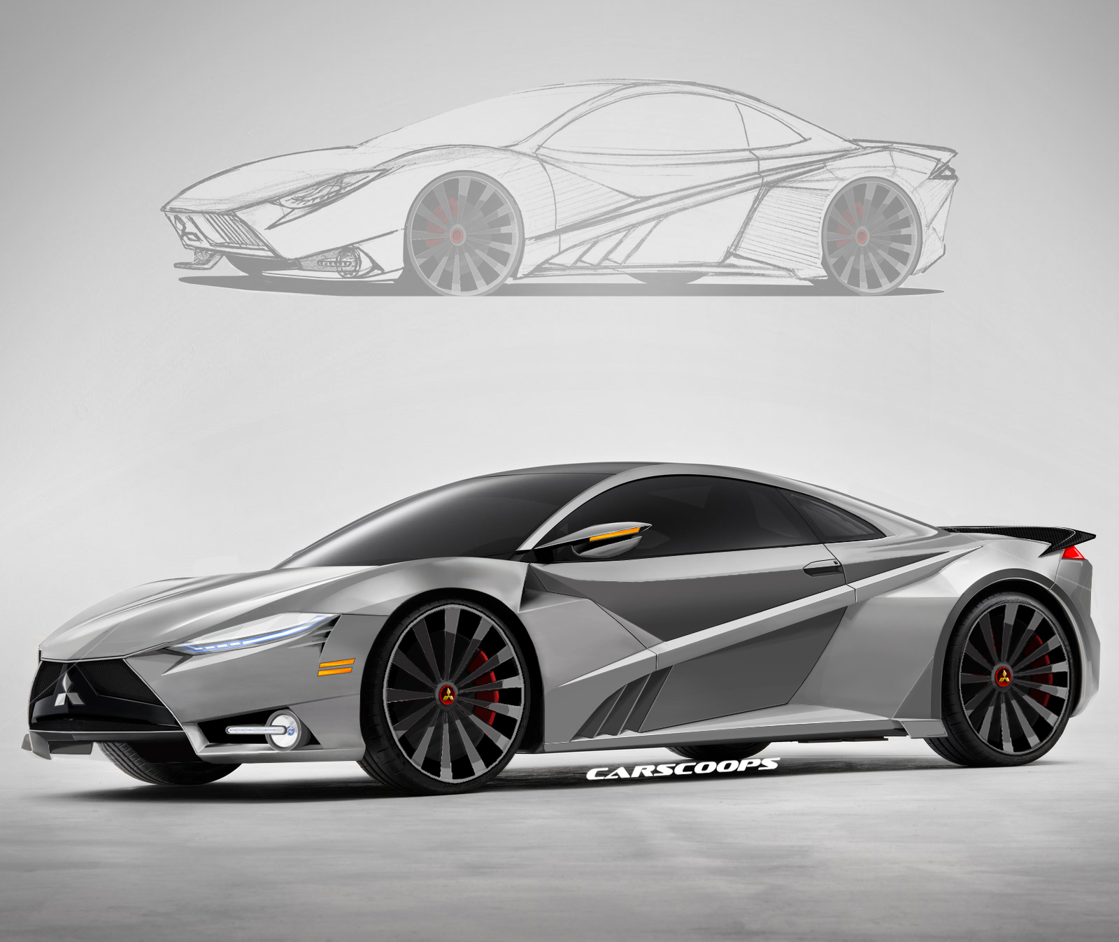 New Mitsubishi 3000GT Concept Rendered From 2016 Acura NSX