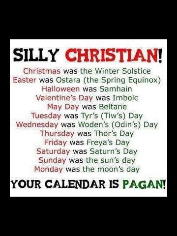 silly christian!