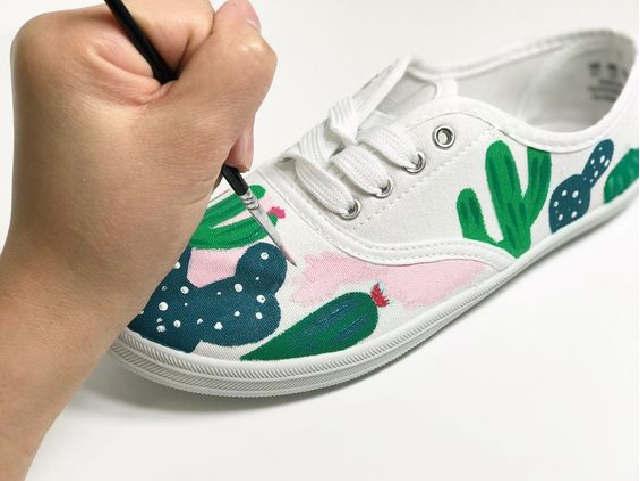 Painted, DIY shoe paint idea