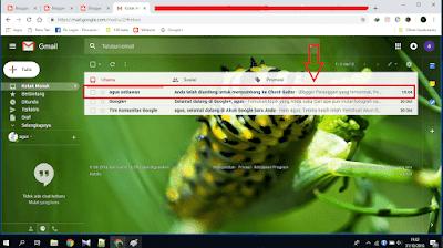 Contoh gambar halaman gmail
