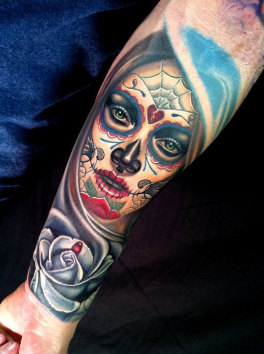 Tattoo Library Day Of The Dead Lady Girl Tattoo Collection