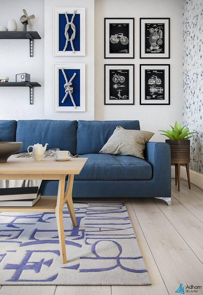 Free 3D Interior Livingroom Scene By Adham Mohamed