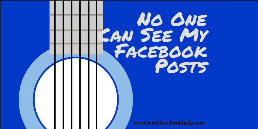 No One Can See My Facebook Posts