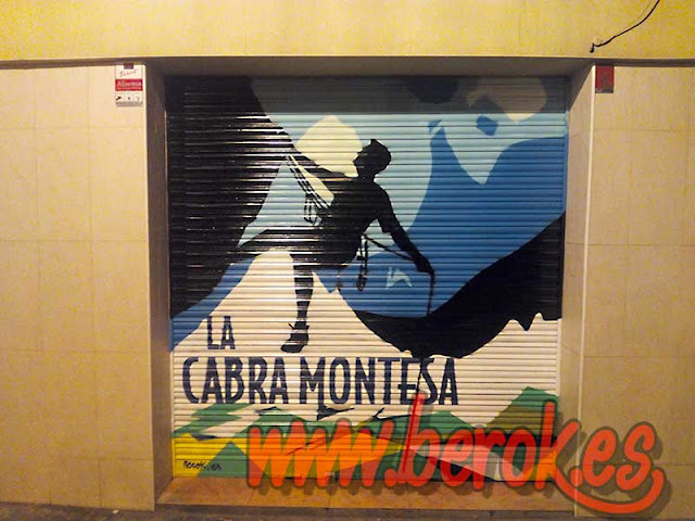 graffiti persiana La Cabra Montesa