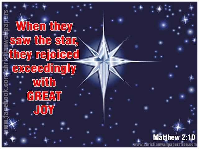 Star of Joy - Christmas Desktop Bible Verse Wallpapers