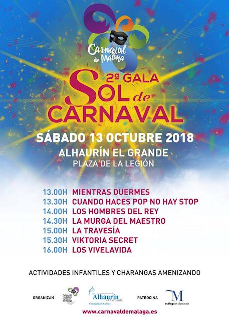 Gala Sol de Carnaval Alhaurín El Grande 2018