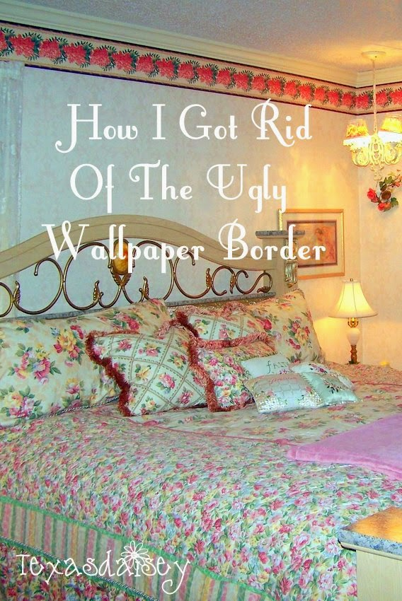 Learn how to get rid of the ugly wallpaper border without removing the wallpaper.