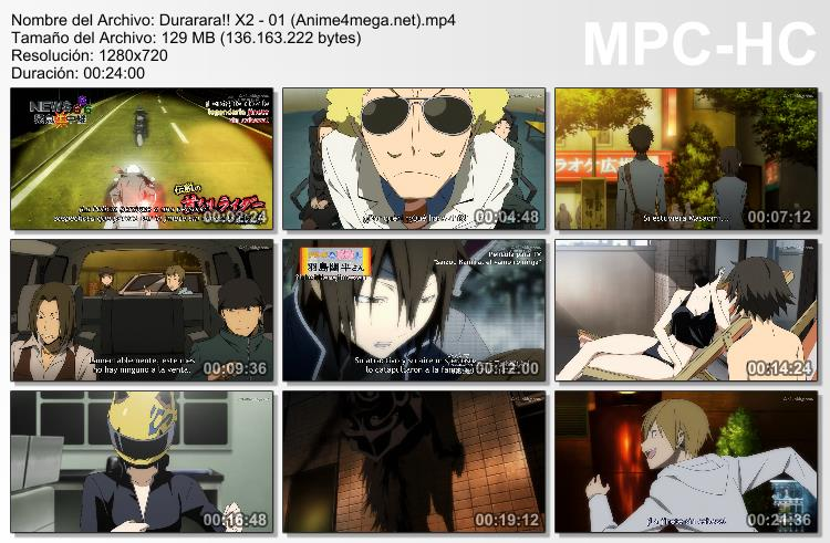 Durarara!! x2 Shou capturas episodio 01