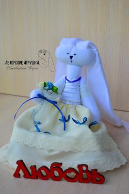 Подарок на свадьбу, свадебные зайчики, зайчики в синем, бежево-голубая свадьба, бирюзовая свадьба, зайчики из флиса, свадебный оригинальный  подарок, игрушки на заказ на свадьбу, зайцы на свадьбу, интересный подарок на свадьбу