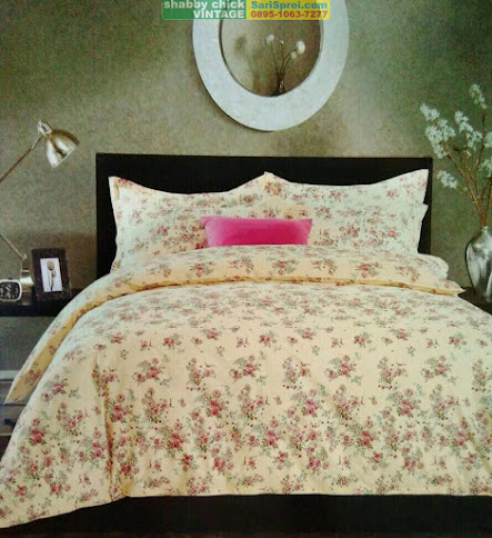 Sprei Shabby Chic Vintage ROSE CREAM