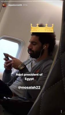 نجم ليفربول يرشح صلاح ليكون رئيس مصر القادم