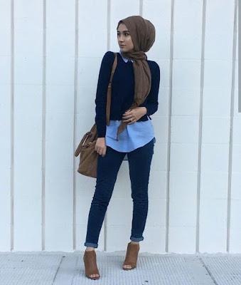 Model Hijab Simple Casual masa kini