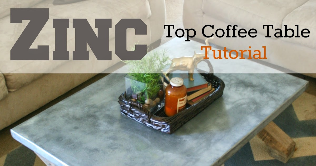 Pneumatic Addict Zinc Top Coffee Table Tutorial Pottery