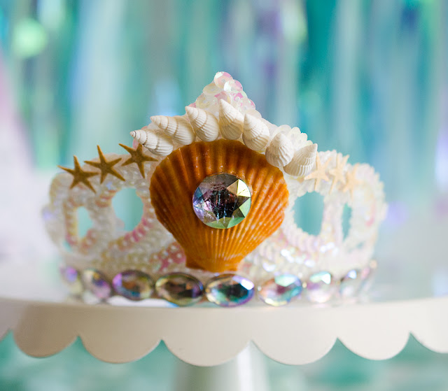 oriental trading mermaid crown starfish gems seashells