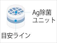 HITACHI BW-D9JV-078 Ag除菌ユニット 交換目安ライン