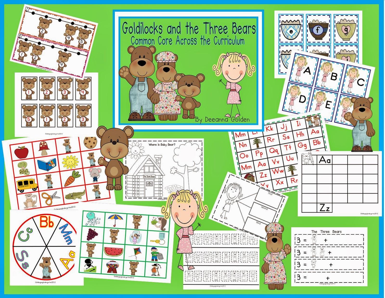Golden Gang Kindergarten Goldilocks And The Three Bears