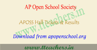 AP open school 10th hall tickets 2017- 2018 aposs ssc results
