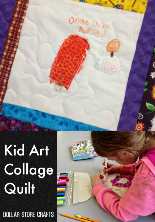 Make a Kid Art Collage Quilt