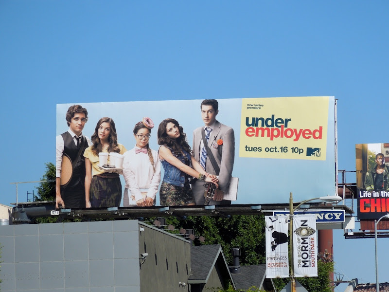Underemployed season 1 billboard