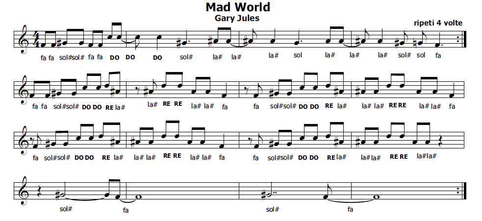 canzone mad world