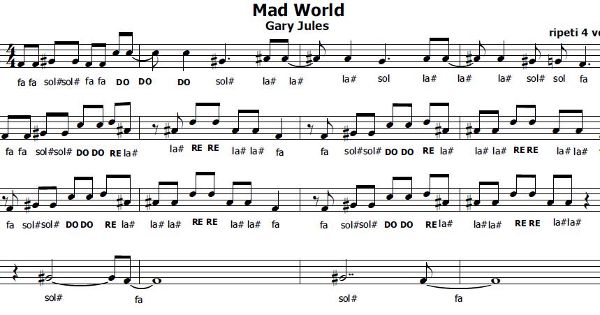 Musica e spartiti gratis per flauto dolce mad world - Aggiungi un posto a tavola accordi ...