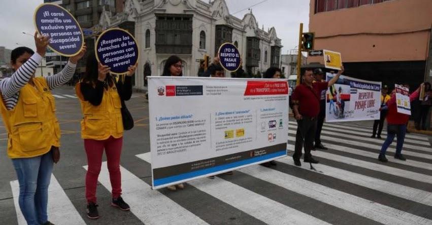 Personas con discapacidad severa tienen pase libre en transporte público urbano e interurbano